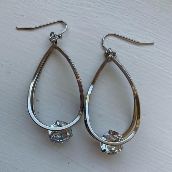 Express Jewelry - Express Dangle Rhinestone Earrings